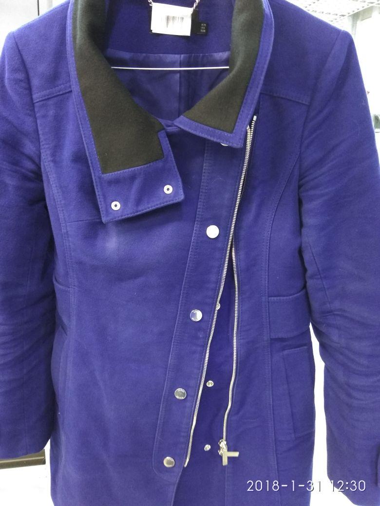 Before-Экспериментальная окраска пальто (состав: шерсть с полиэстером)