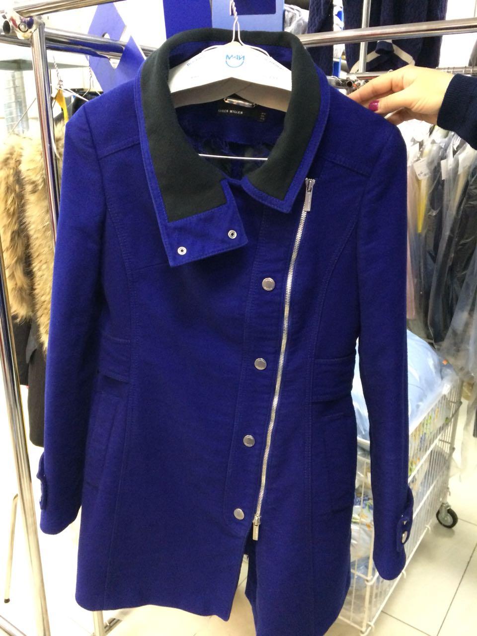 After-Экспериментальная окраска пальто (состав: шерсть с полиэстером)