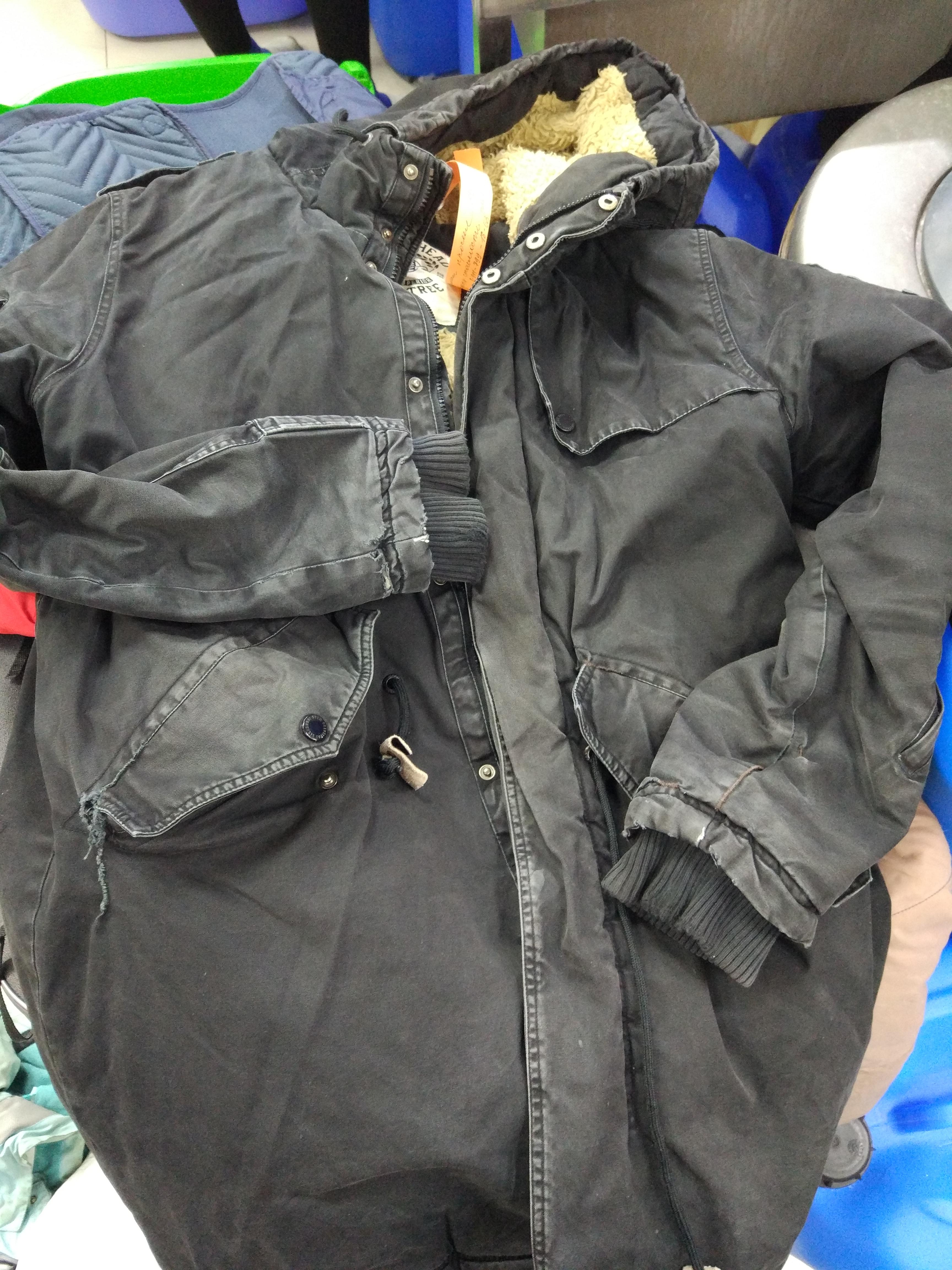 Before-Окраска мужской куртки