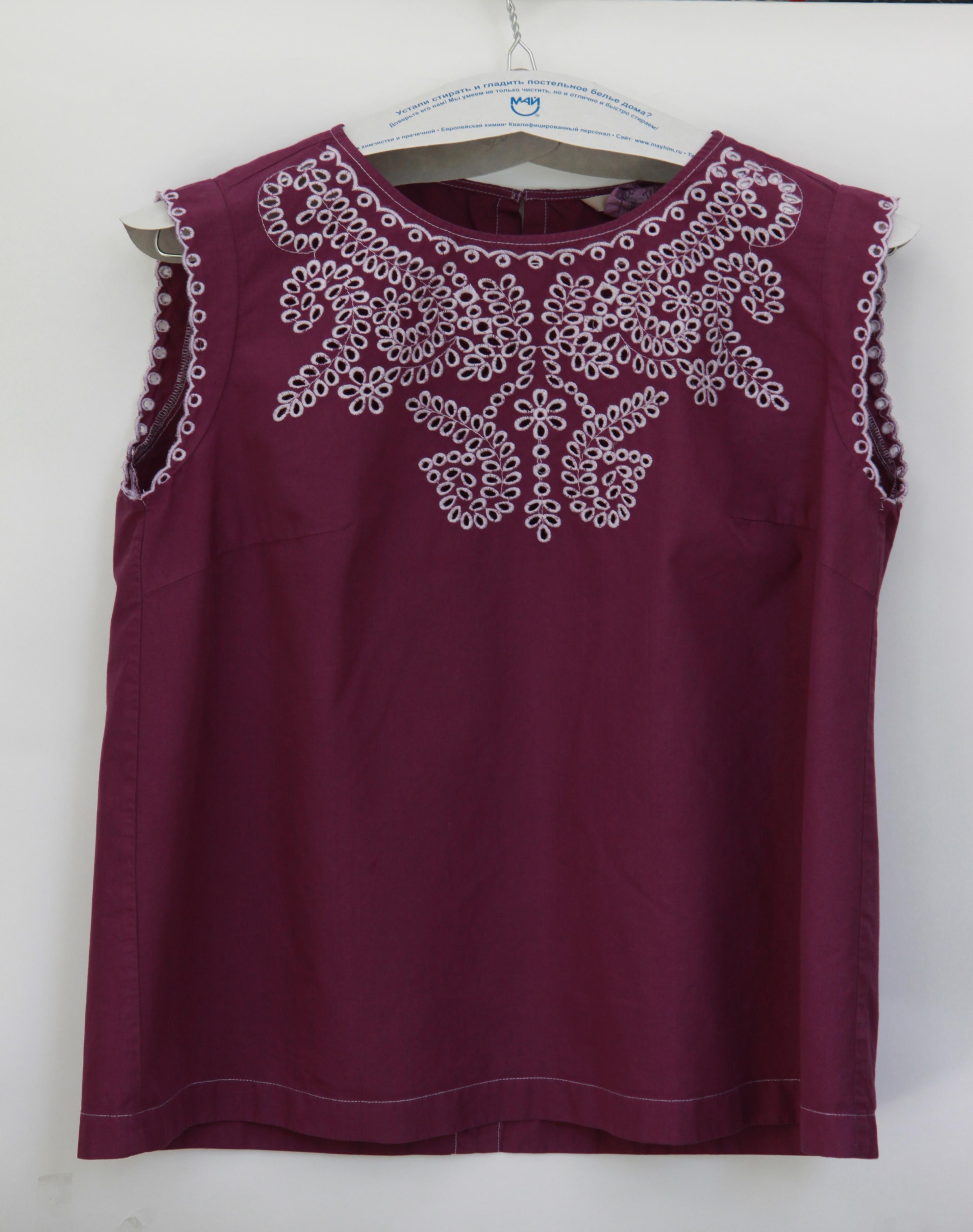 After-Окраска хлопковой блузки в фиолетовый цвет