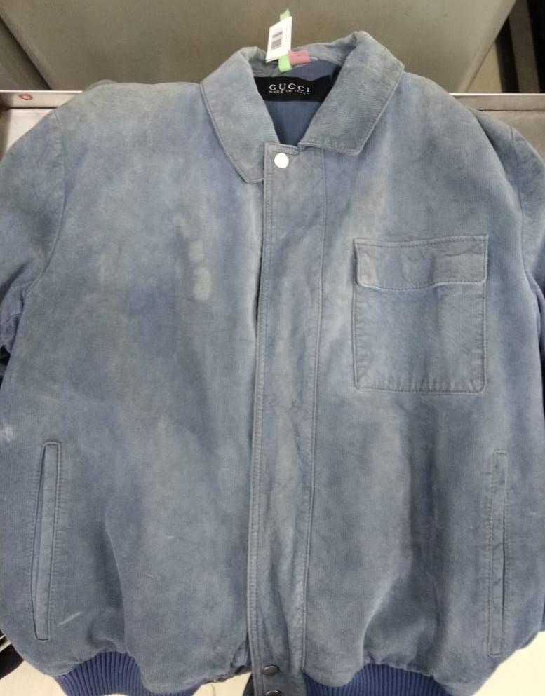 Before-Окраска замшевой куртки